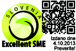 Prima certifikat Excellent SME